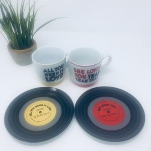 THE BEATLES COFFEE CUPS